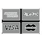Amex, PayPal, VISA & Mastercard