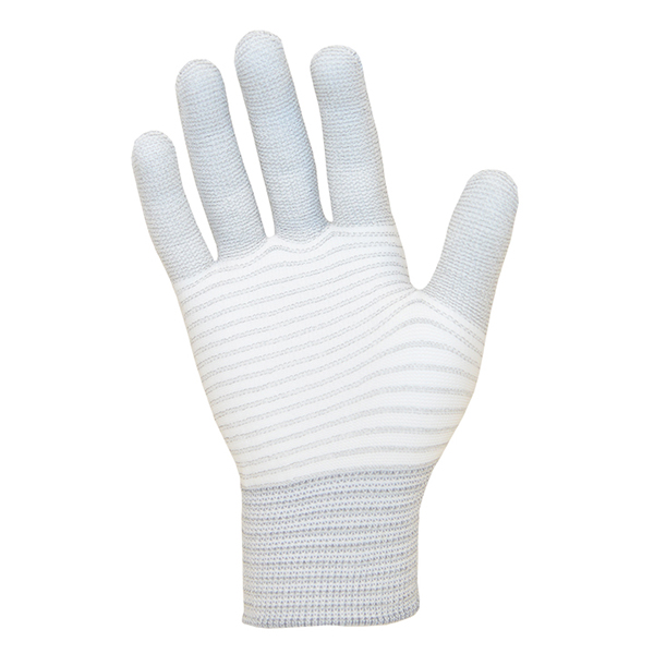 ESD Seamless Knit Gloves Carbon Stripe