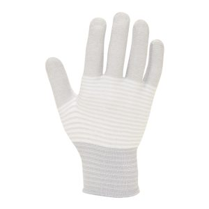 109-0414 ESD Seamless Knit Gloves Carbon Stripe
