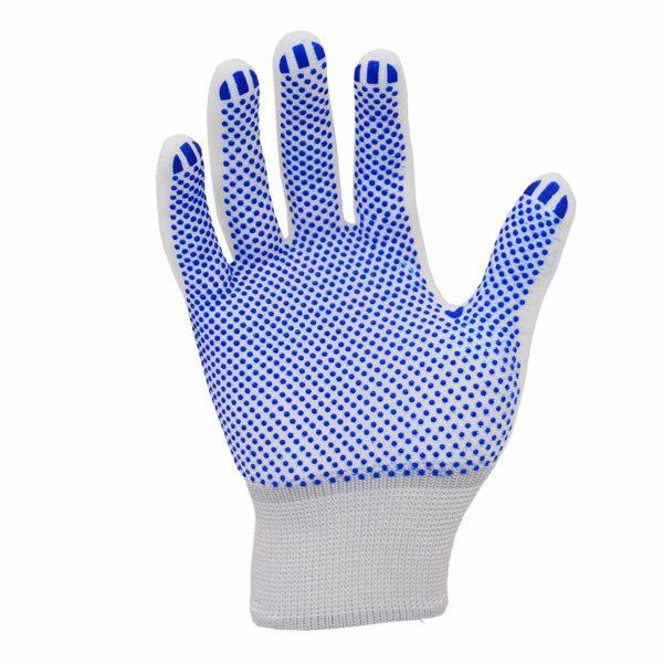 ANT109DPG-C-B-Blue-PVC-Dotted-Palm-Gloves-Carbon