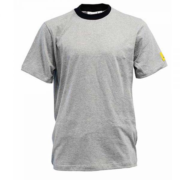 Antistat-ESD-Short-Sleeve-T-shirt-Grey