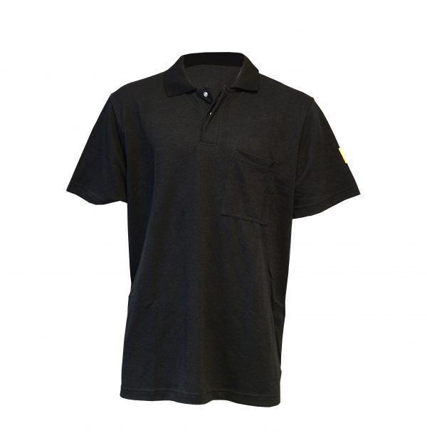 Black-Antistat-ESD-Short-Sleeve-Polo-Shirt