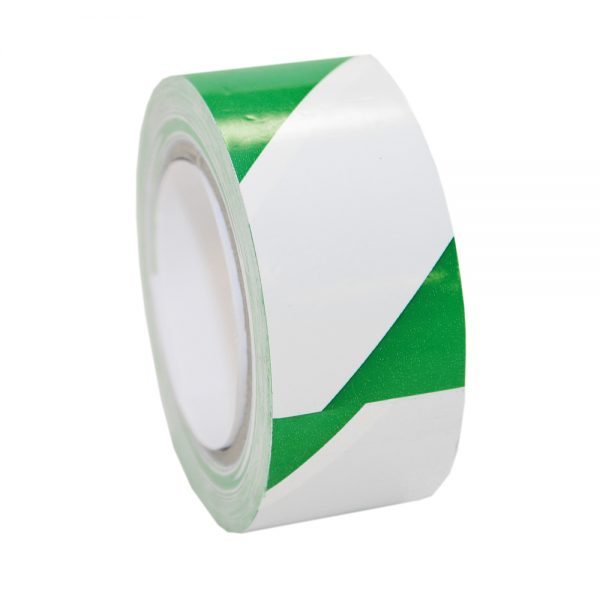 Hazard-Marking-Tape-Green-White-147-0023