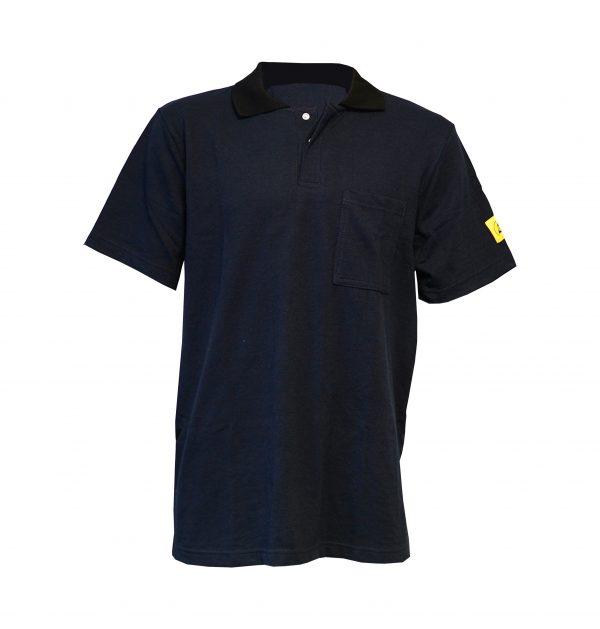 Navy Blue-Antistat-ESD-Short-Sleeve-Polo-Shirt