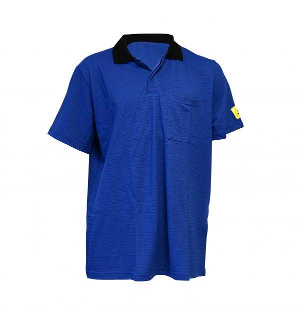 Royal Blue-Antistat-ESD-Short-Sleeve-Polo-Shirt