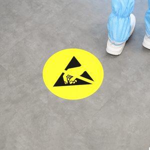 ESD Floor Sign