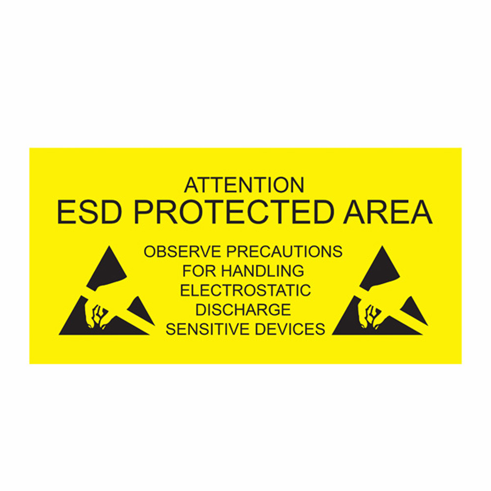 Esd Protected Area Sign Self Adhesive Antistat Esd