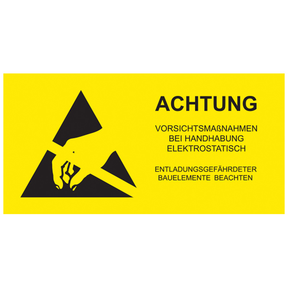 ESD Caution Label German