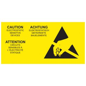 ESD Caution Label - Multi Language