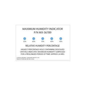 Maximum humidity indicator