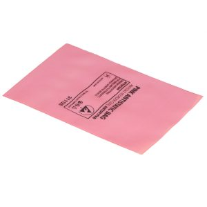 pink antistatic bags open-top