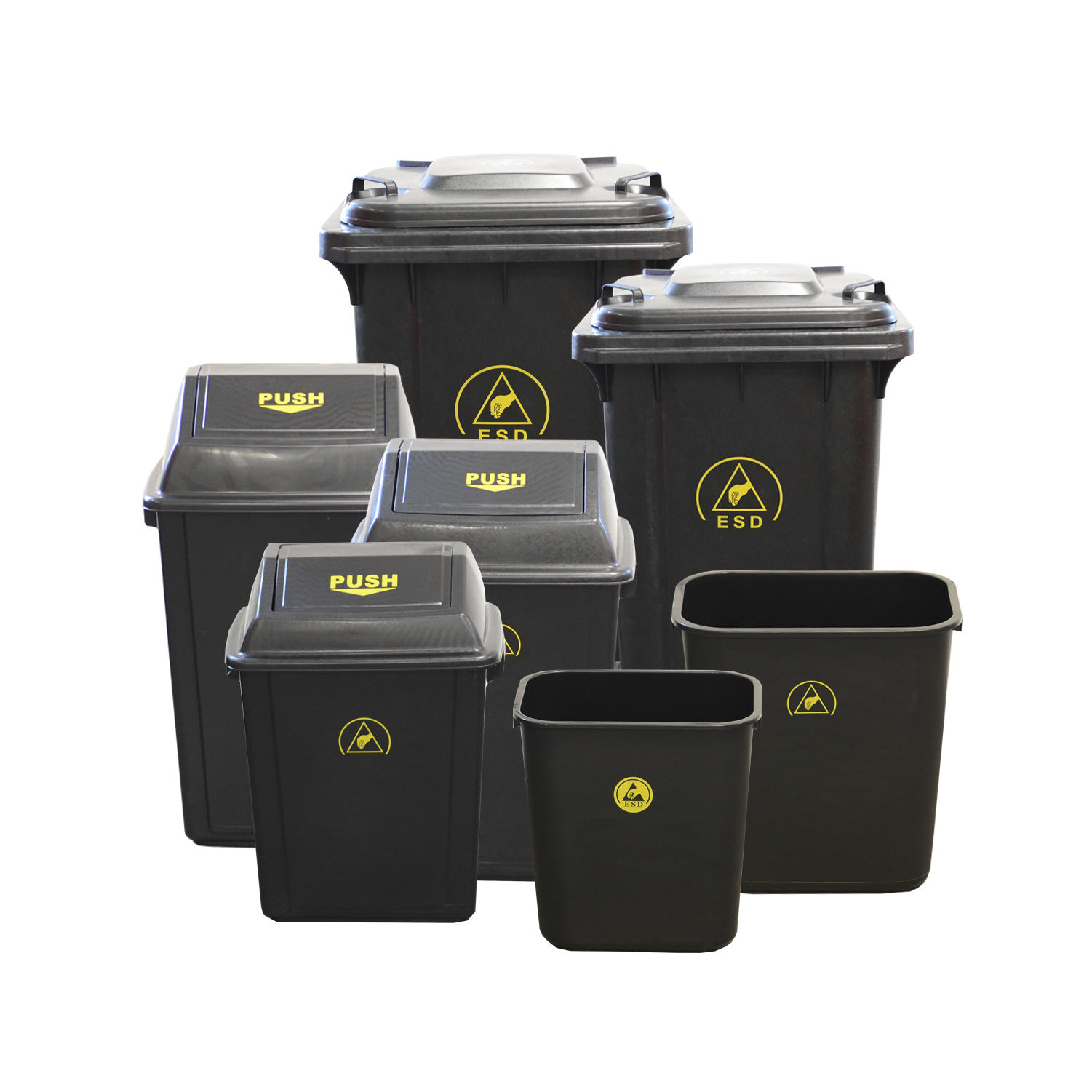 Antistatic Waste Bins