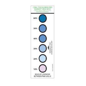 6 spot humidity indicator card - cobalt dichloride free