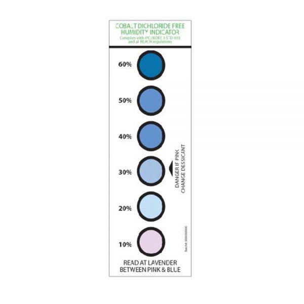 309-0072 – Six Spot Humidity Card – Cobalt Dichloride Free